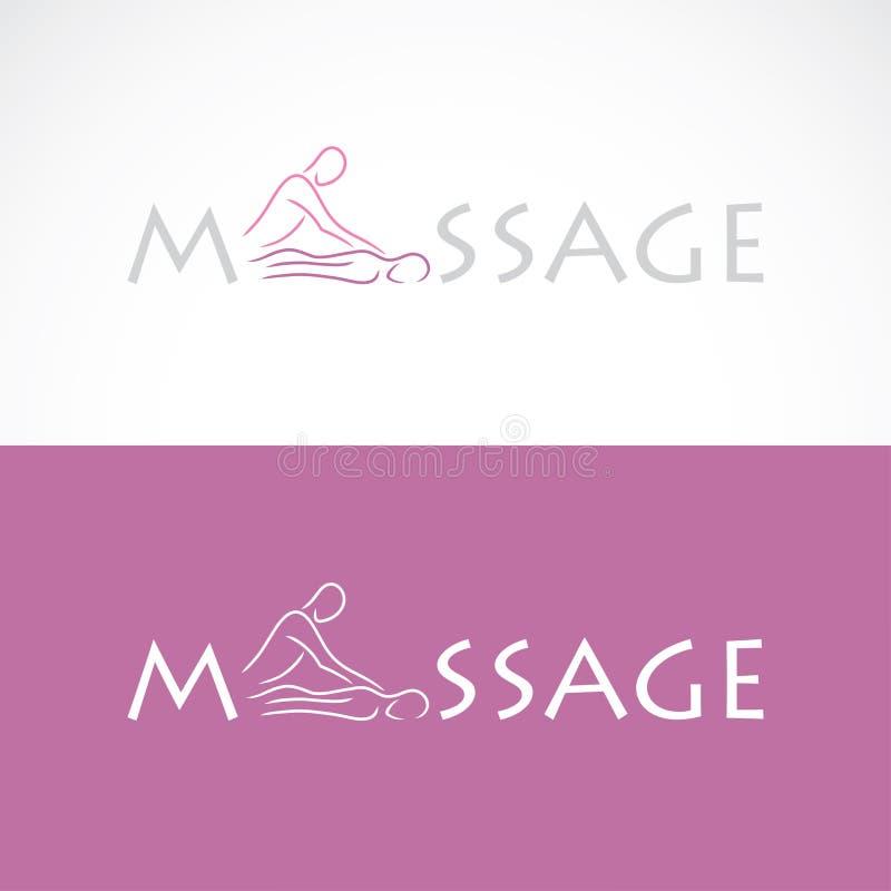 Etiqueta del masaje stock de ilustración