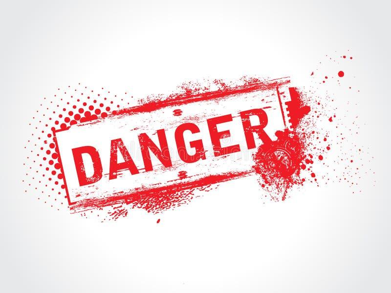 Etiqueta del peligro libre illustration