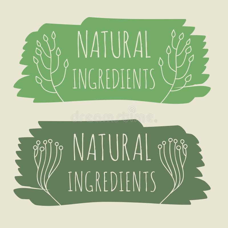 Etiqueta del producto natural stock de ilustración