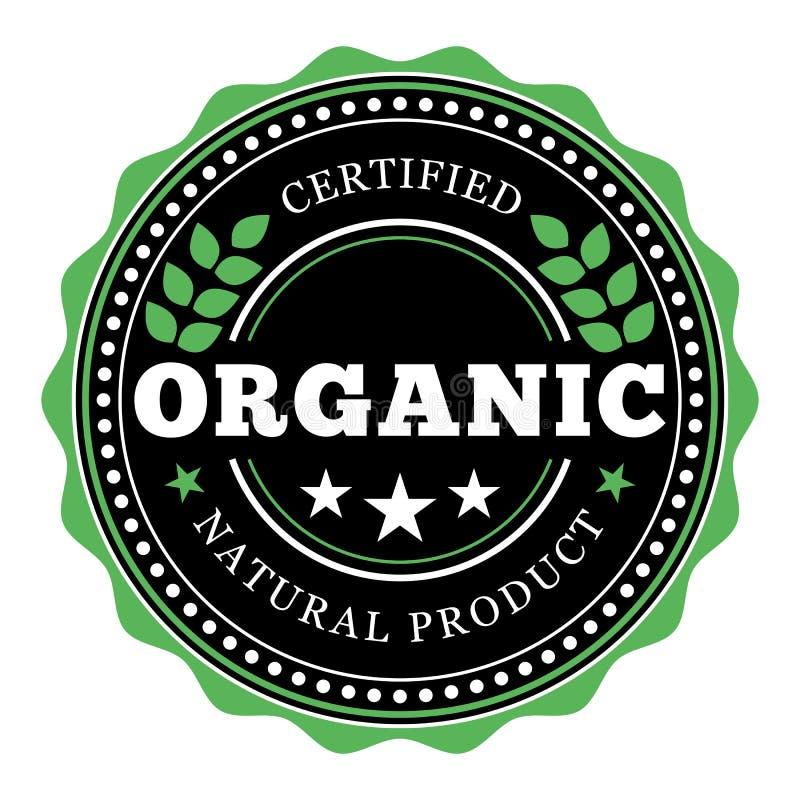 Etiqueta del producto natural y diseño orgánicos del sello libre illustration