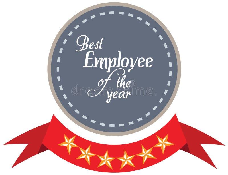 Etiqueta del promo del vector del mejor premio del servicio del empleado del año libre illustration