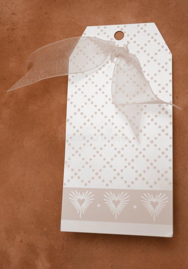Etiqueta del regalo foto de archivo libre de regalías