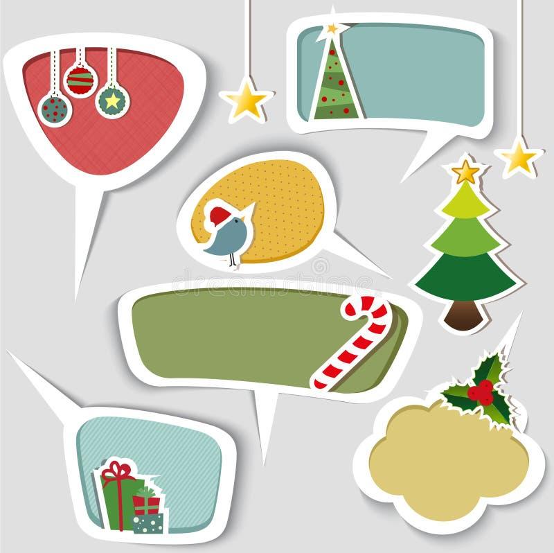 Etiqueta del regalo de la Navidad imágenes de archivo libres de regalías