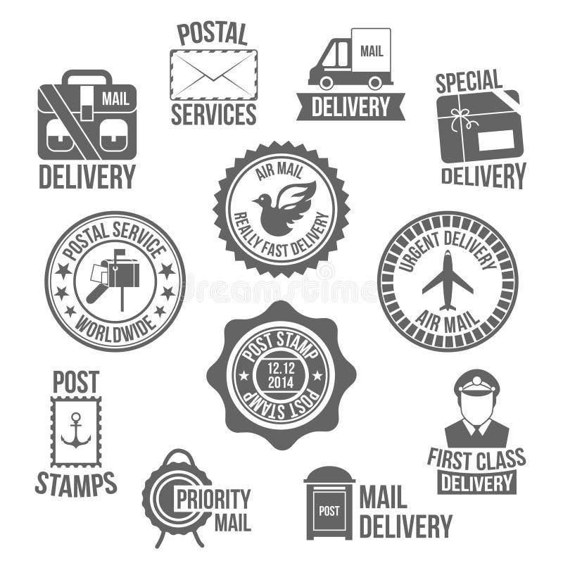 Etiqueta del servicio de los posts libre illustration