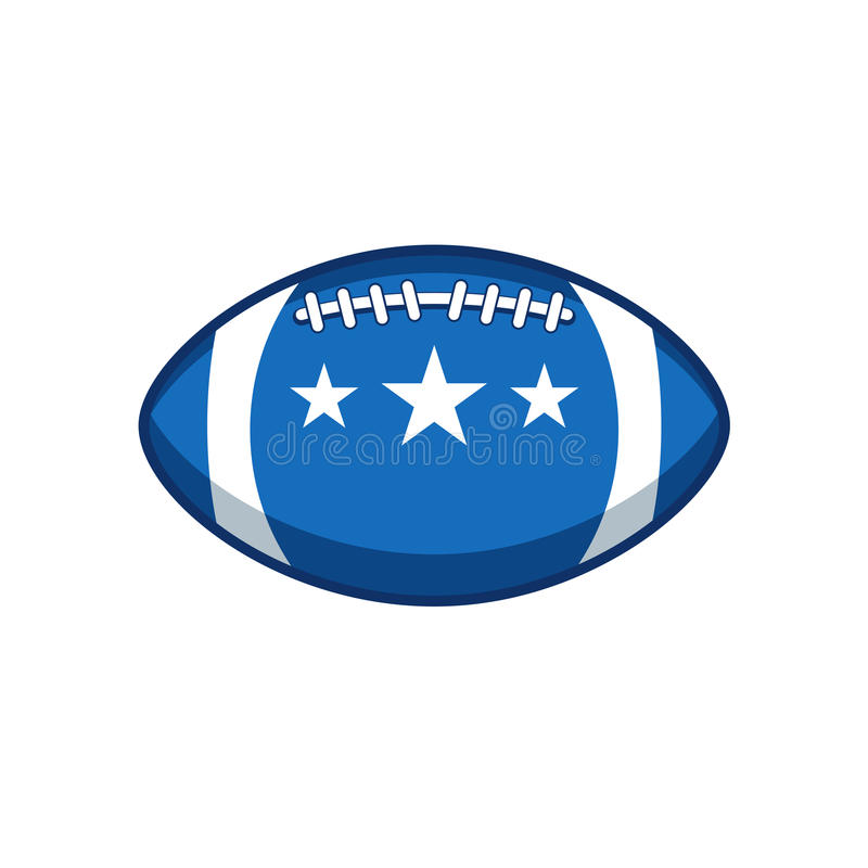 Etiqueta del vector del fútbol americano imagen de archivo