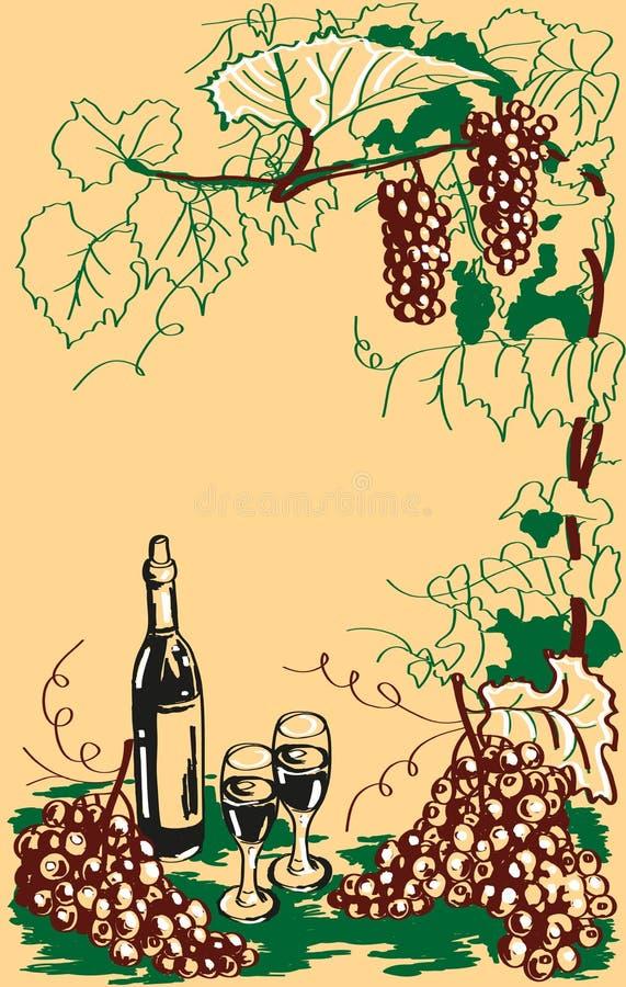 Etiqueta del vino libre illustration