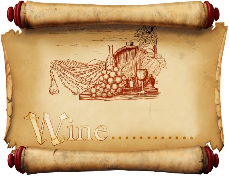 Etiqueta del vino del vintage ilustración del vector