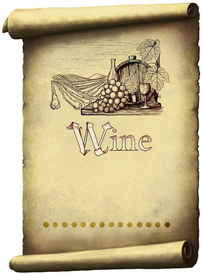 Etiqueta del vino del vintage libre illustration