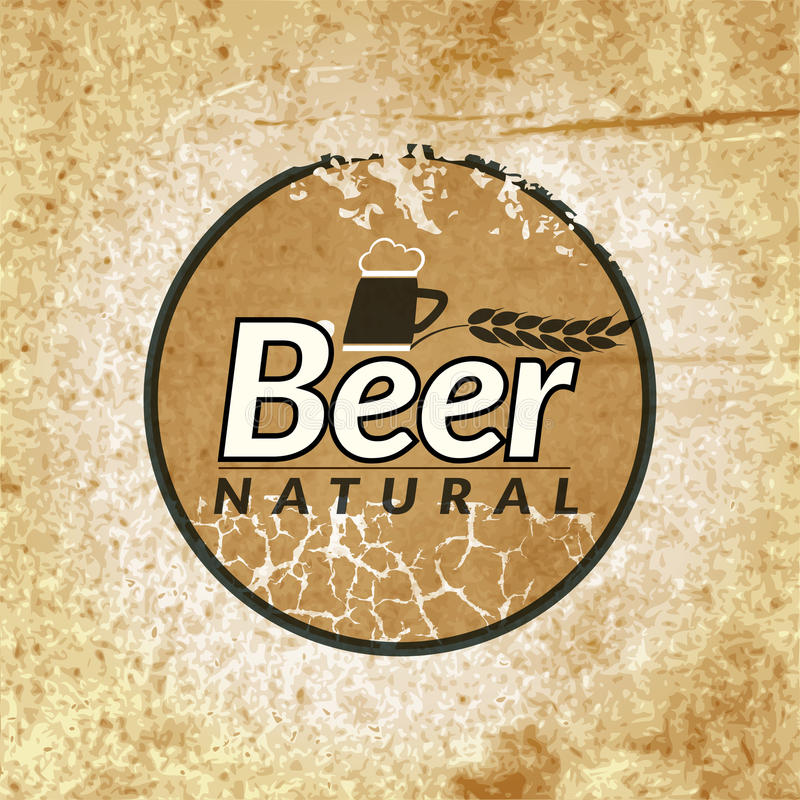 Etiqueta del vintage de la cerveza ilustración del vector