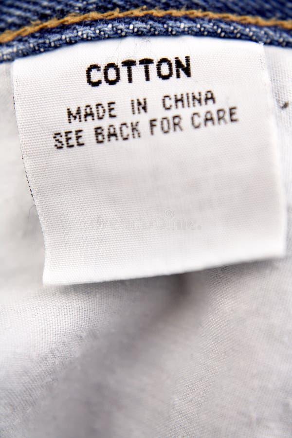Etiqueta do algodão fotos de stock