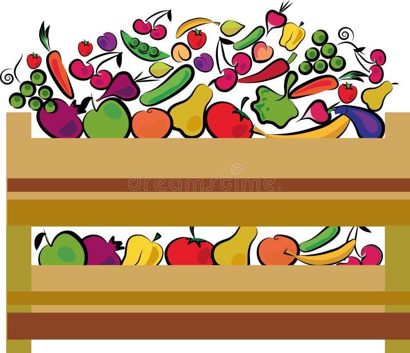 Etiqueta do alimento biológico em cores verdes ilustração do vetor