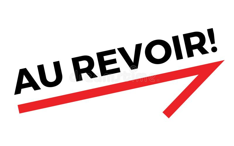 Etiqueta do AU REVOIR ilustração do vetor