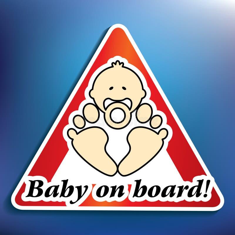 Etiqueta do bebê a bordo ilustração stock