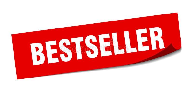 Etiqueta do bestseller ilustração stock