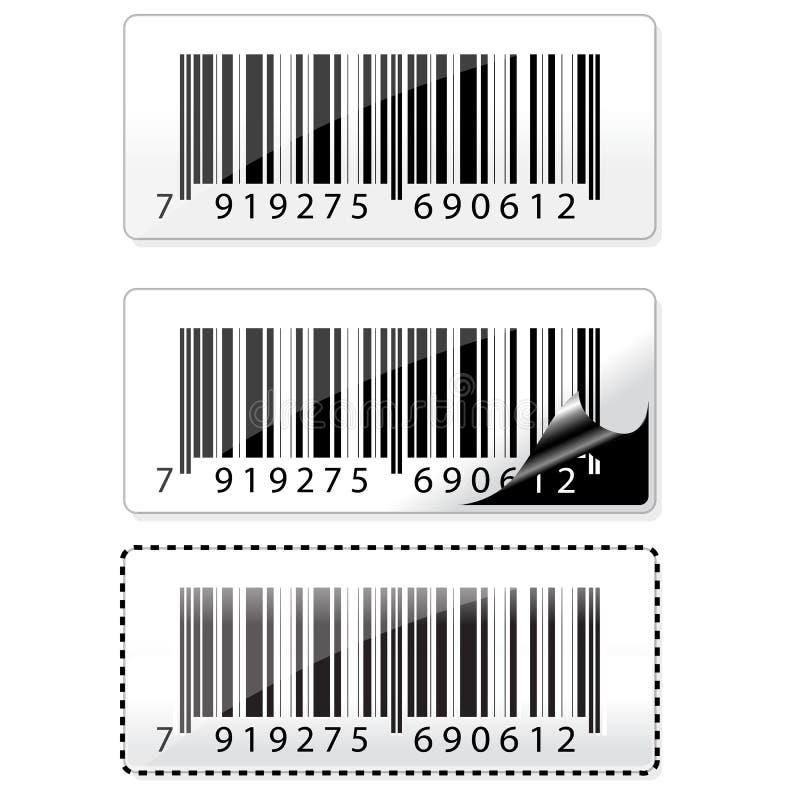 Etiqueta do código de barras ilustração do vetor