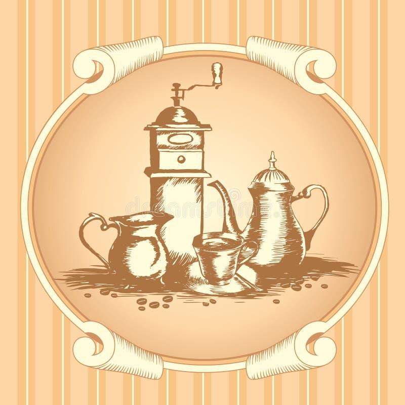 Etiqueta do café ilustração royalty free