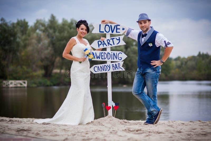 Etiqueta do casamento imagem de stock royalty free