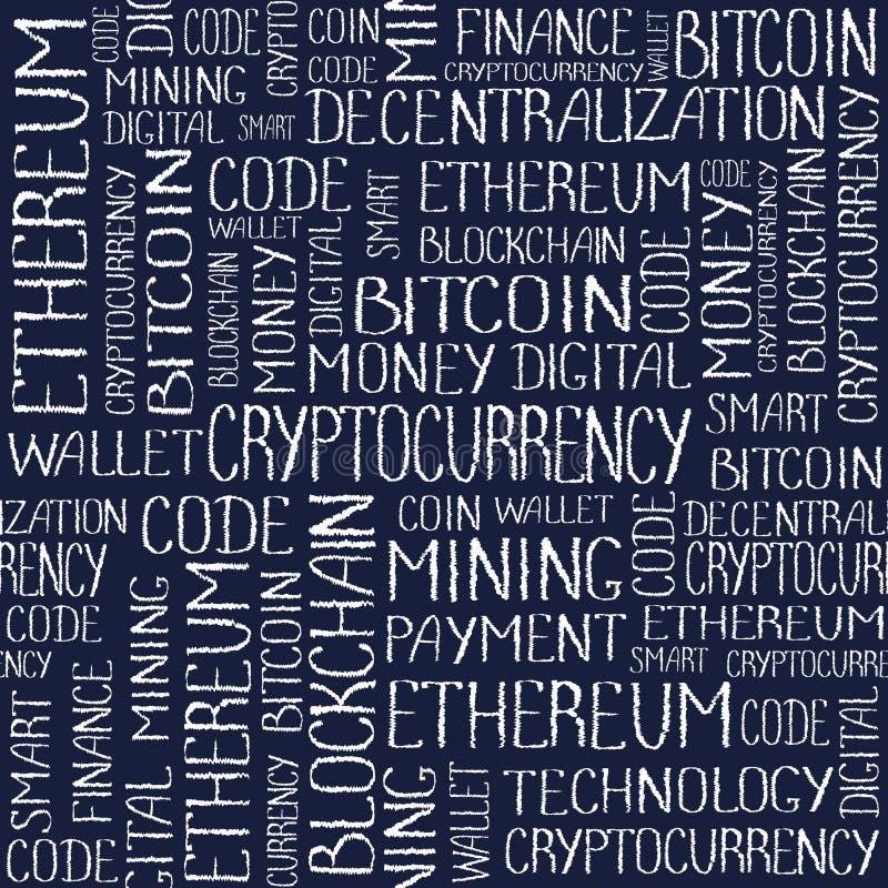 A etiqueta do conceito de Cryptocurrency exprime o teste padrão ilustração do vetor