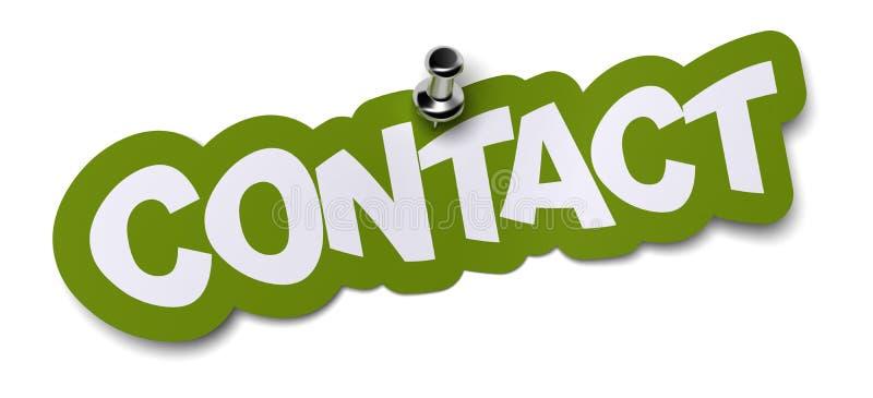 Etiqueta do contato ilustração stock