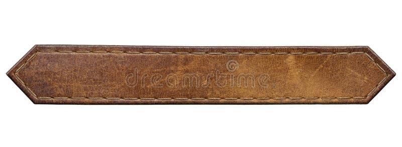 Etiqueta do couro da etiqueta das calças de brim fotografia de stock royalty free