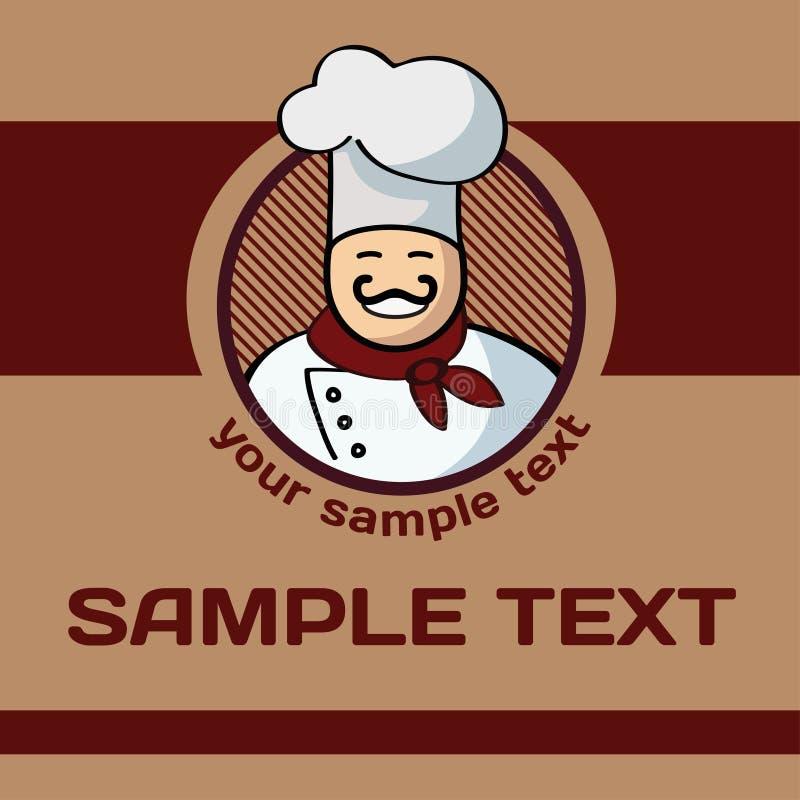 Etiqueta do cozinheiro ilustração royalty free
