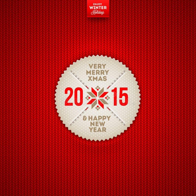 Etiqueta do cumprimento do Natal e do ano novo ilustração royalty free