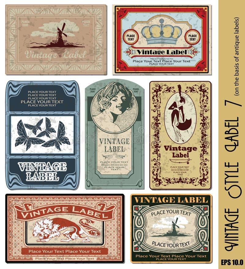 Etiqueta do estilo do vintage imagens de stock royalty free
