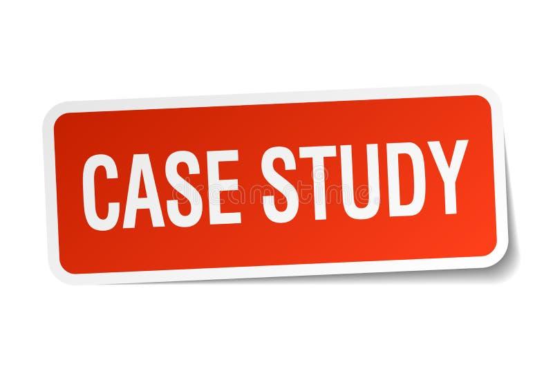 etiqueta do estudo de caso ilustração do vetor