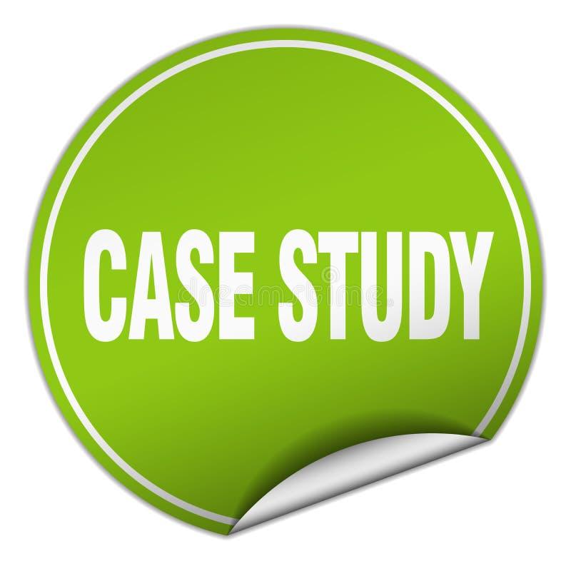 etiqueta do estudo de caso ilustração stock
