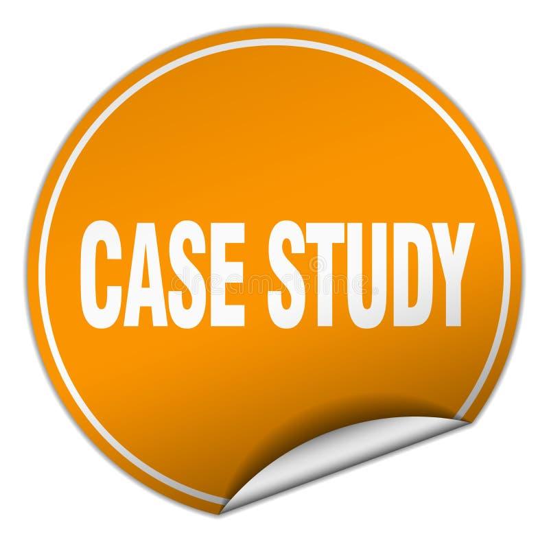 etiqueta do estudo de caso ilustração royalty free