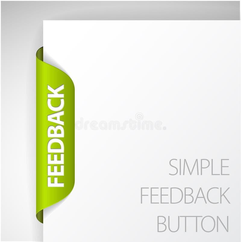 Etiqueta do feedback ilustração do vetor