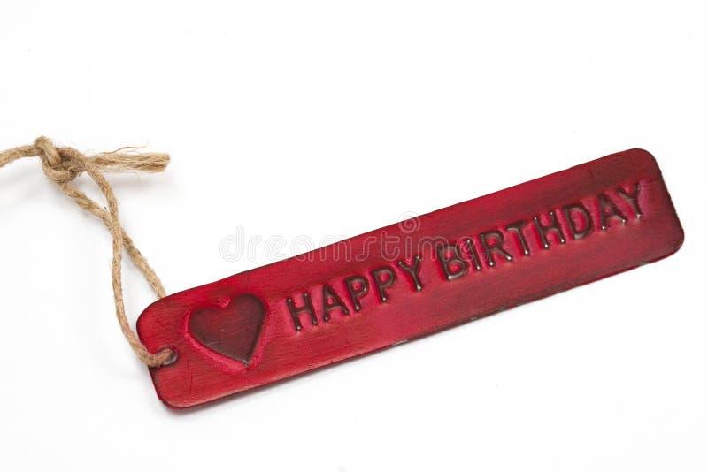 Etiqueta do feliz aniversario foto de stock