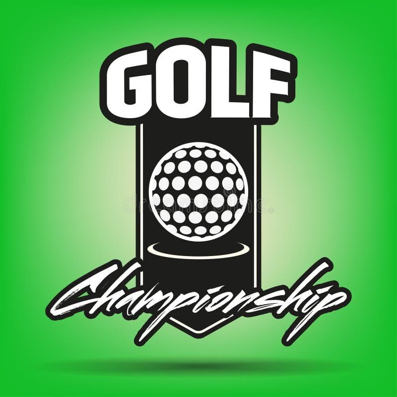 Etiqueta do golfe do vintage ilustração stock