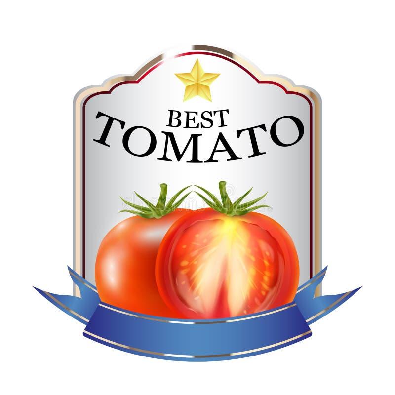 Etiqueta do logotipo vermelho do tipo da ketchup de tomate ilustração royalty free