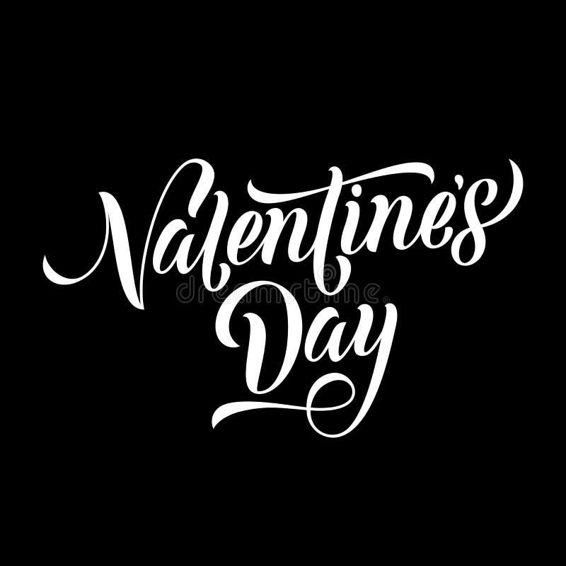 Etiqueta do monograma de Valentine Day para o cartão do feriado do amor ilustração royalty free