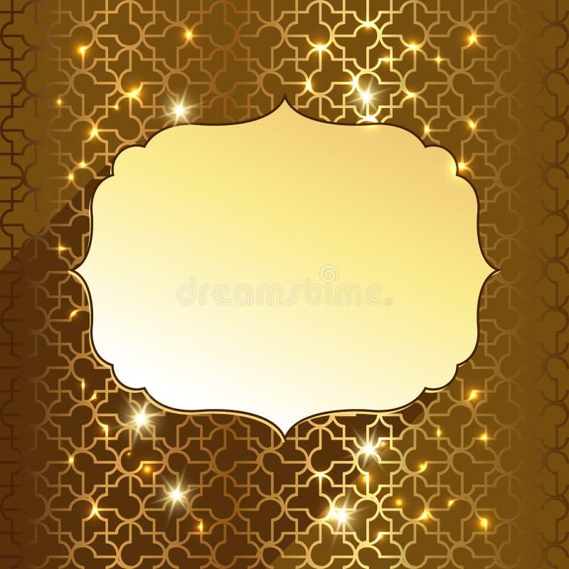 Etiqueta do ouro ilustração stock