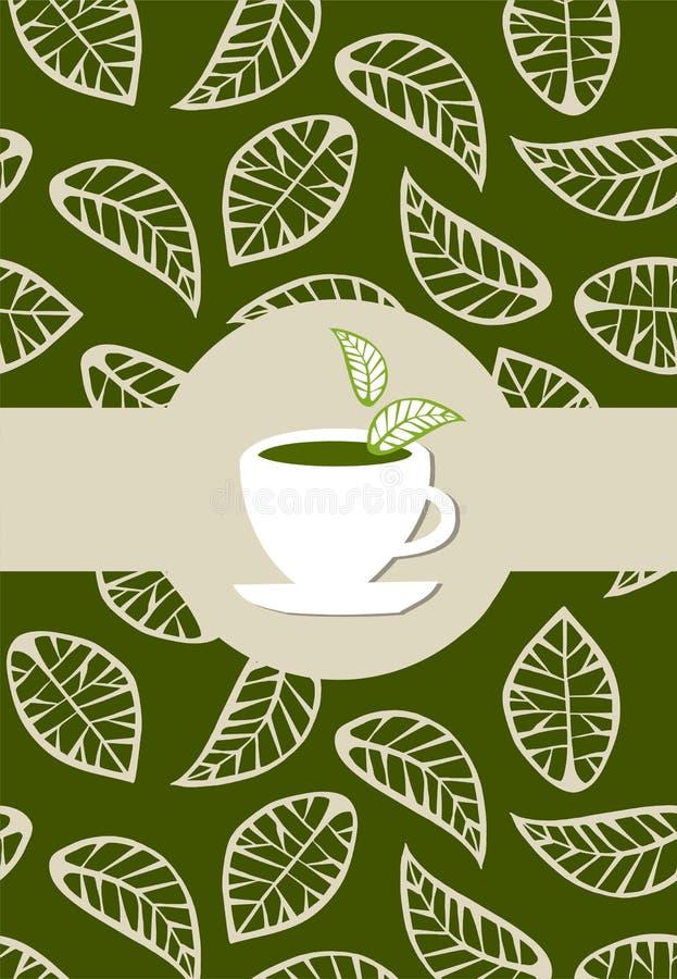 Etiqueta do pacote do chá verde