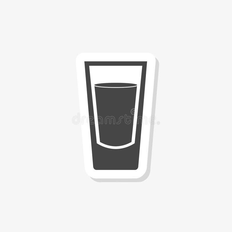 A etiqueta do papel de vidro de tiro, encheu o sinal liso, pictograma contínuo isolado no branco ilustração stock