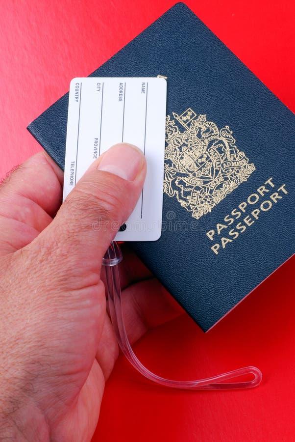 Etiqueta do passaporte e da bagagem fotos de stock royalty free