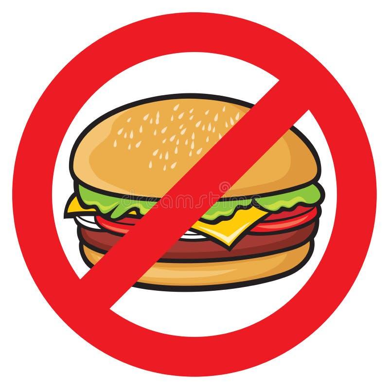 Etiqueta do perigo do fast food ilustração do vetor