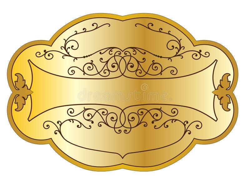 Etiqueta do produto do ouro ilustração do vetor