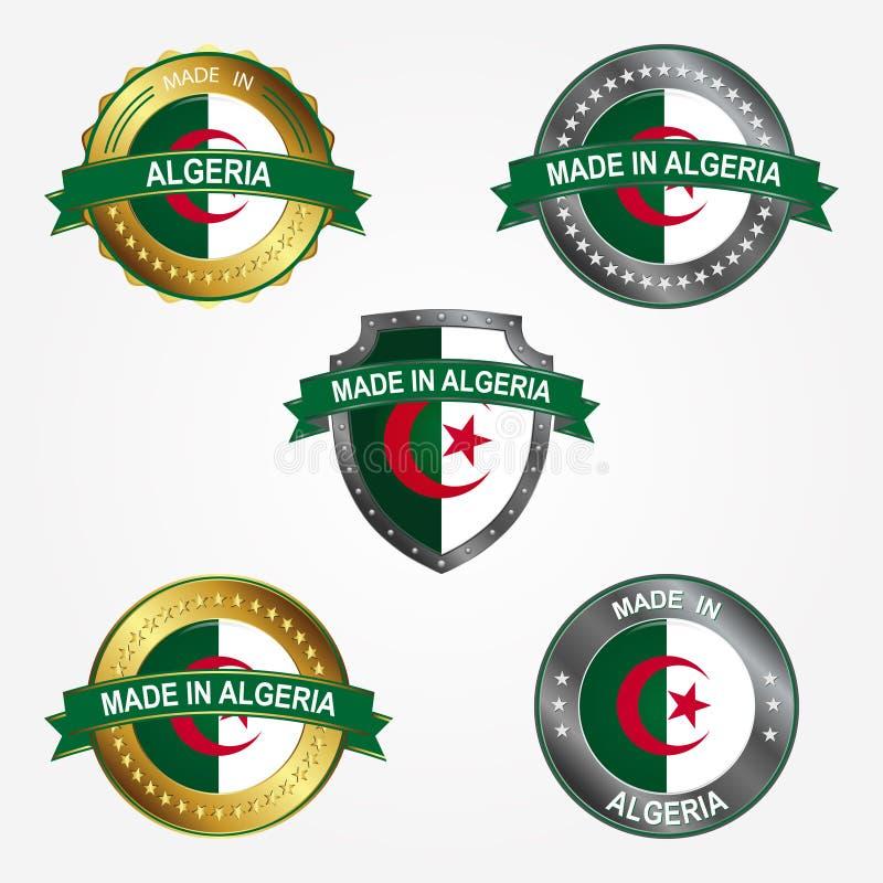 Etiqueta do projeto do feito em Argélia Ilustração do vetor ilustração royalty free