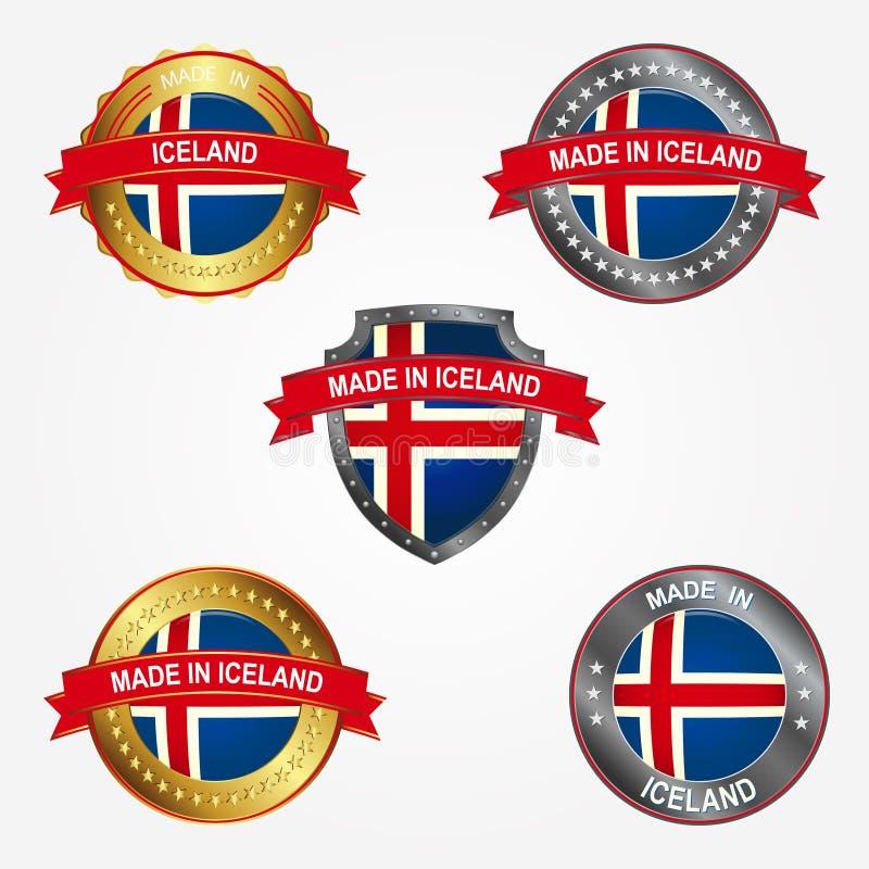 Etiqueta do projeto do feito em Islândia Ilustração do vetor ilustração royalty free