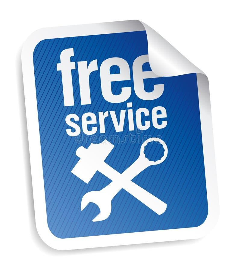 Etiqueta do serviço gratuito ilustração do vetor