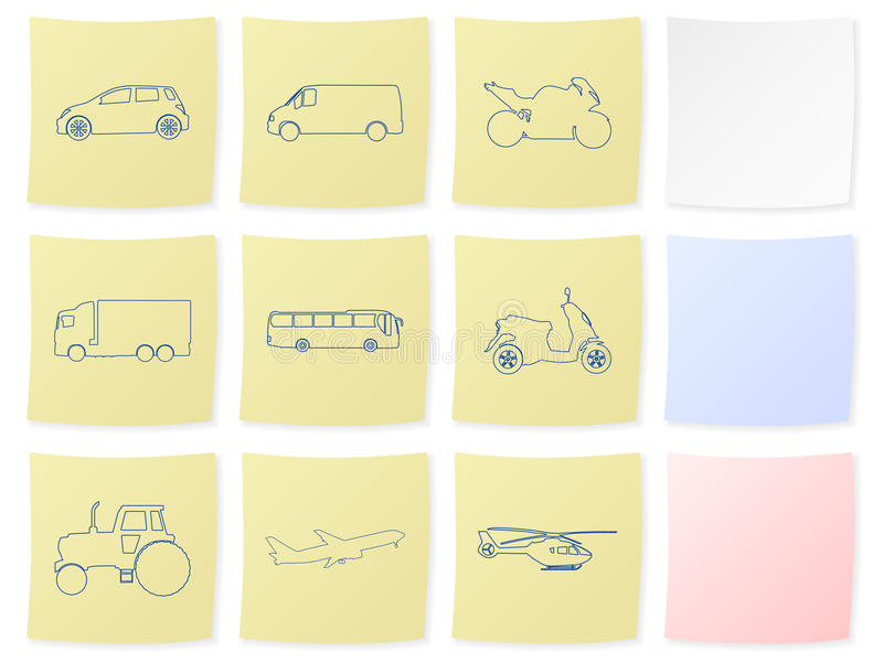 Etiqueta do transporte ilustração stock