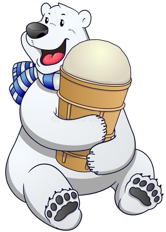 Etiqueta do urso polar com gelado Ilustração do vetor ilustração royalty free