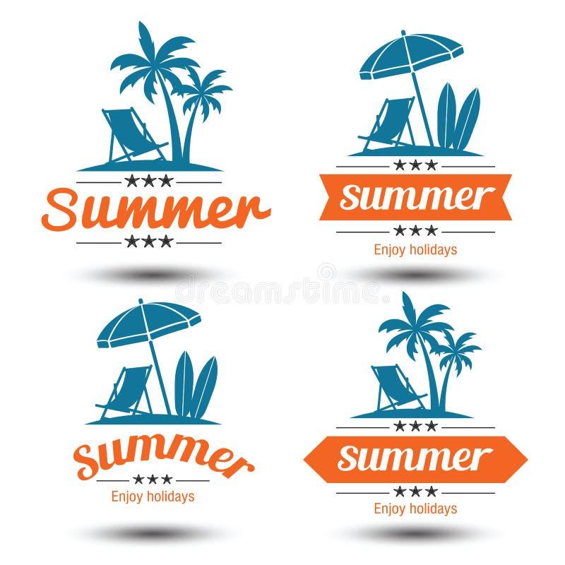 Etiqueta do verão ilustração stock