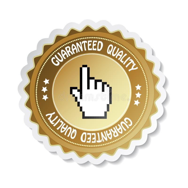 Etiqueta do vetor - qualidade garantida ilustração stock