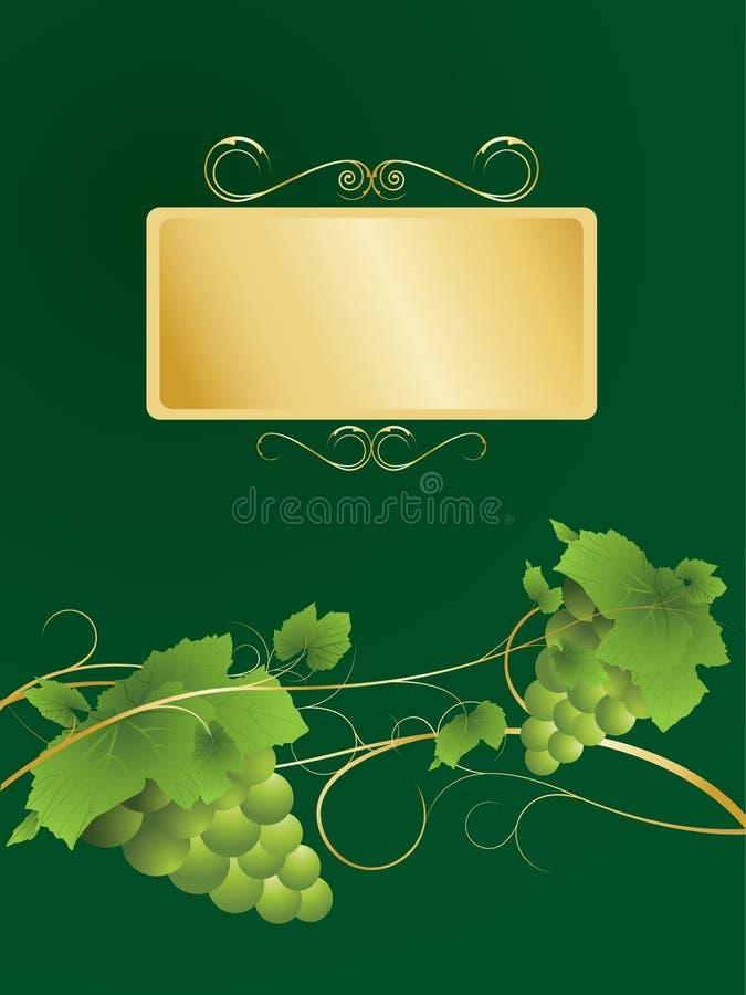 Etiqueta do vinho ilustração stock