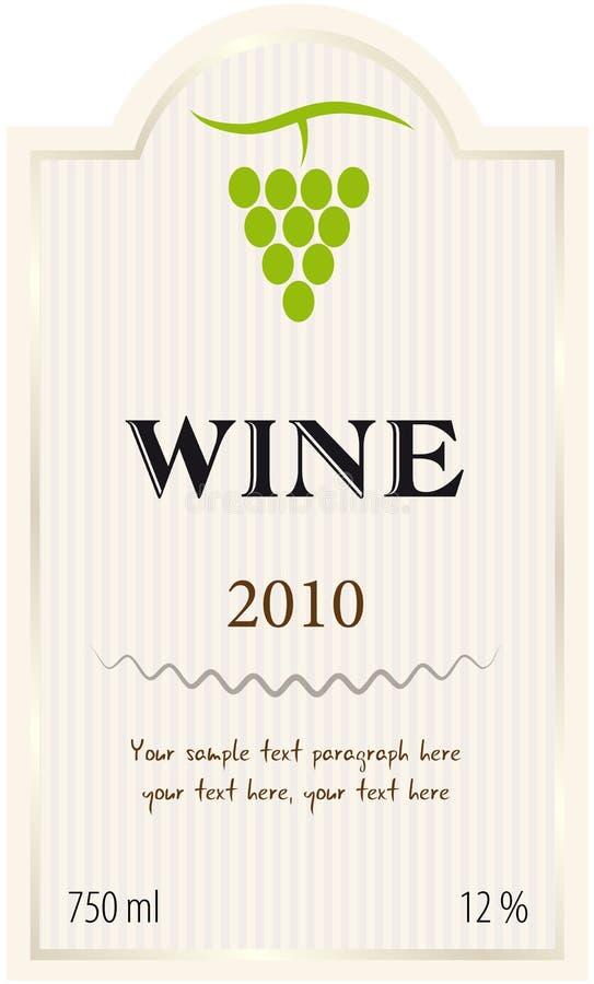 Etiqueta do vinho do vetor ilustração royalty free
